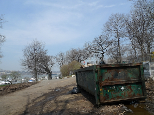 Trash in the dumpster behind the Boat Basin Cafe attracts rats, so the Parks Department recently put poison in the area.