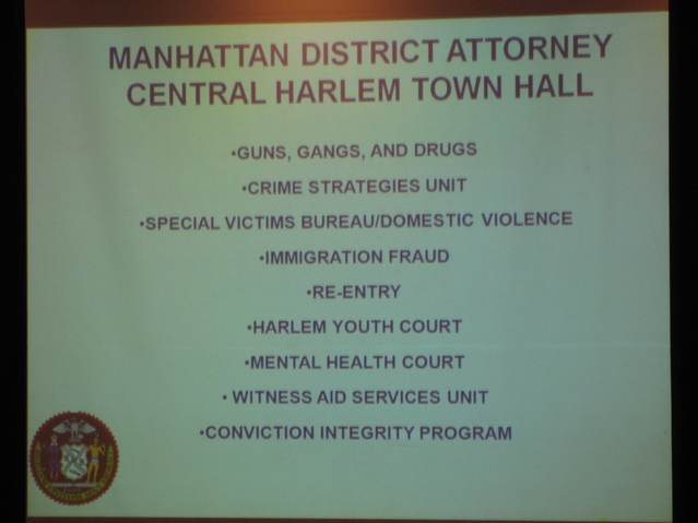 Assistant District Attorneys addressed residents after the town hall.