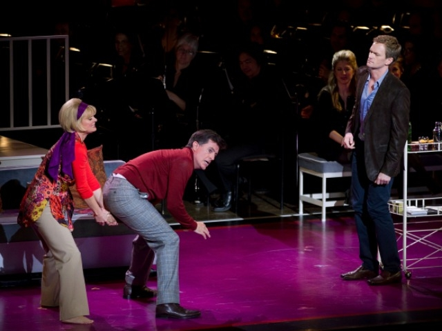 Funnymen Neil Patrick Harris and Stephen Colbert performed in 2011 New York Philharmonic Orchestra Spring Gala Benefit show.