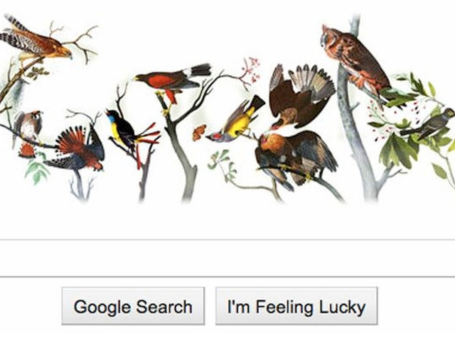 Googel celebrated the 226th birthday anniversary of John James Audubon this week with a Google Doodle on its homepage.