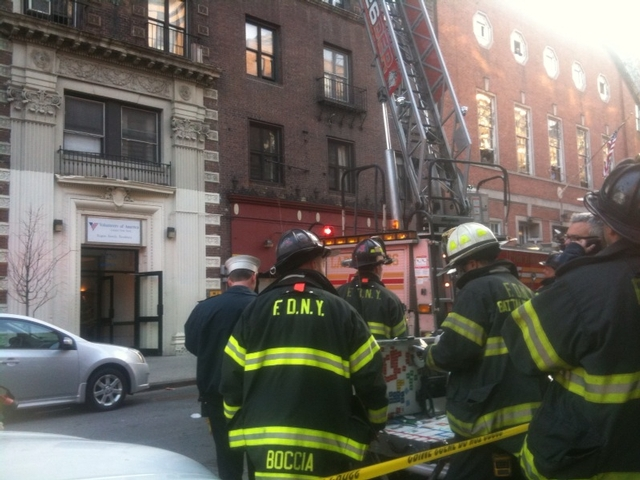 FDNY crews respond to 2720 Broadway, a homeless shelter run by Volunteers of America, Apr. 15, 2011.