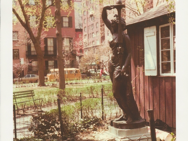 An image of the nymph statue when it was in Gramercy Park.