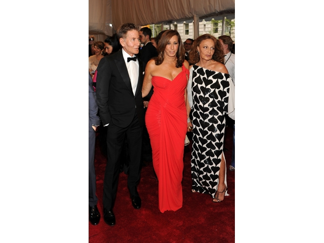 Calvin Klein, Donna Karan and Diane von Furstenberg at the Met's gala Monday night.