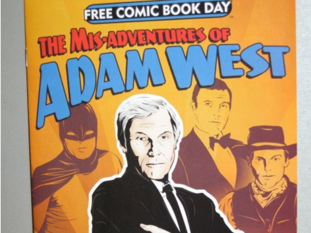 Holy Freebie! Adam West - the Caped Crusader himself - has his own comic book. Copies of the comic were being given away on Free Comic Book Day on May 7, 2011.