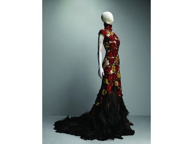 Alexander McQueen (British, 1969-2010)   Dress, VOSS, spring/summer 2001.