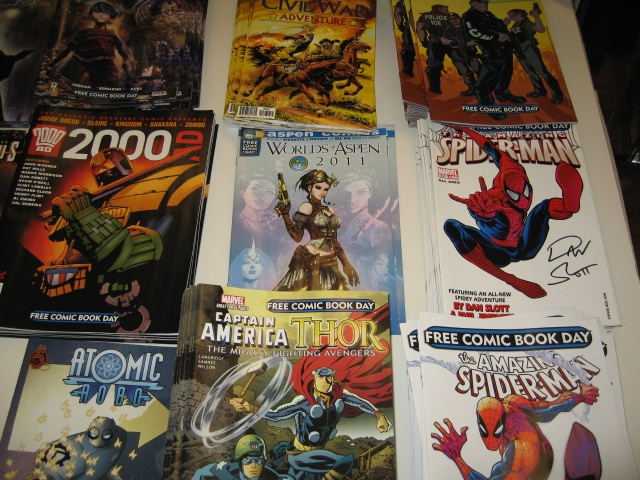 There were comics for all ages being given out in Manhattan on Free Comic Book Day.