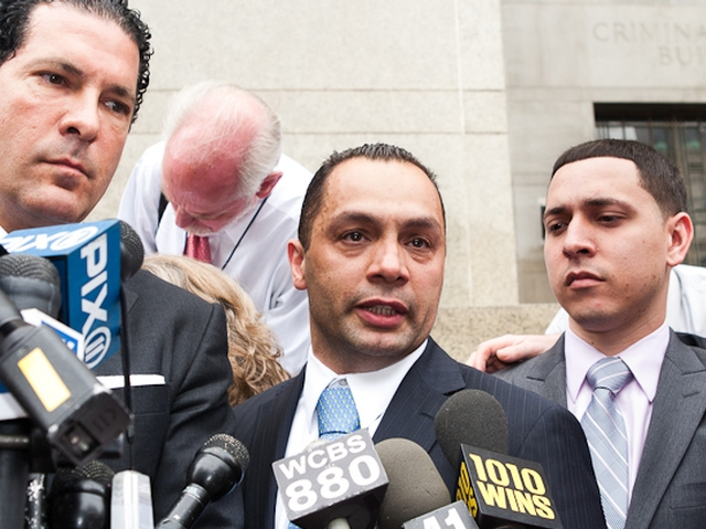 Kenneth Moreno addresses reporters after a jury found him not guilty of rape, May 26, 2011.