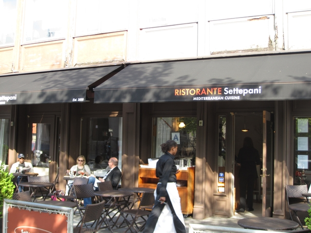 Ristoranti Settepani at West 120th Street and Lenox Avenue.