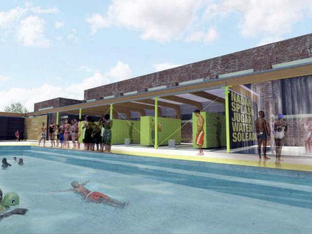 Downtown School Looks to Create Pool Pavillion for Uptown Swimmers