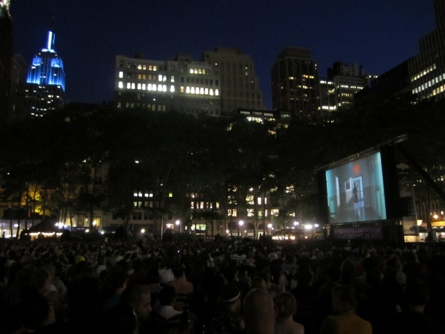 The big screen and the Empire State Building