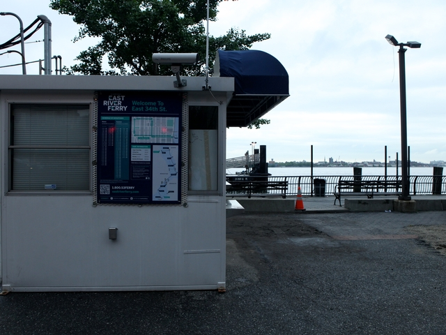 The pier at East 34th Street has a new passenger waiting area that is expected to be completed by 2012.