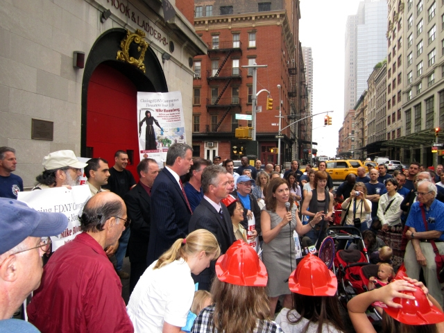 Community Board 1 Chairwoman Julie Menin said the closing of Hook & Ladder 8 was a matter of