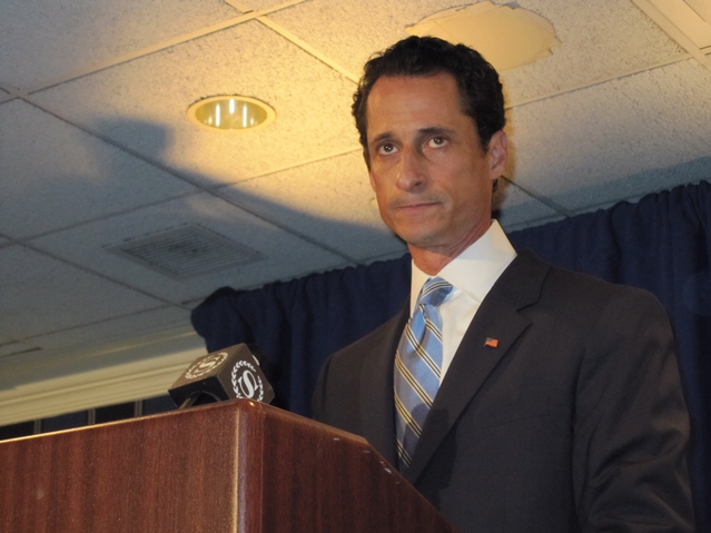 Weiner admitted that he was the one who sent lewd photos to young women via Twitter Monday.