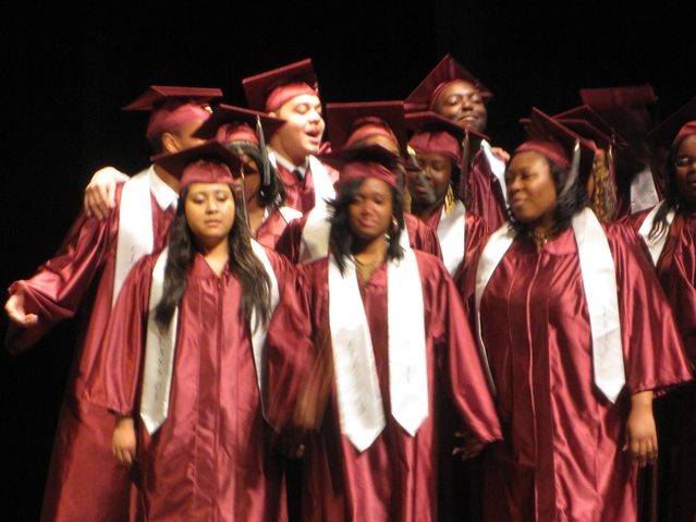 Members of Choir Academy of Harlem's Class of 2011 perform during their graduation ceremony.