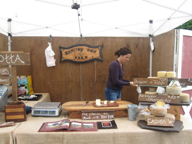 Cheese at the Dancing Ewe Farm's stand at the Union Square greenmarket.