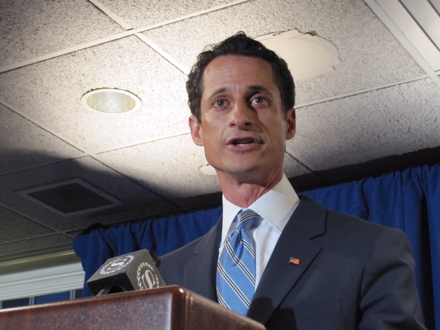Rep. Anthony Weiner spoke with tears in his eyes as he apologized to his wife.