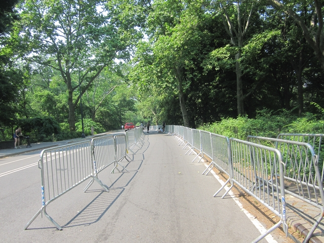 Much of Central Park was fenced off for the concert.