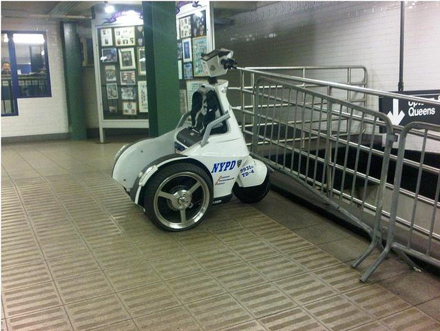 NYPD Segway at Union Square subway station.