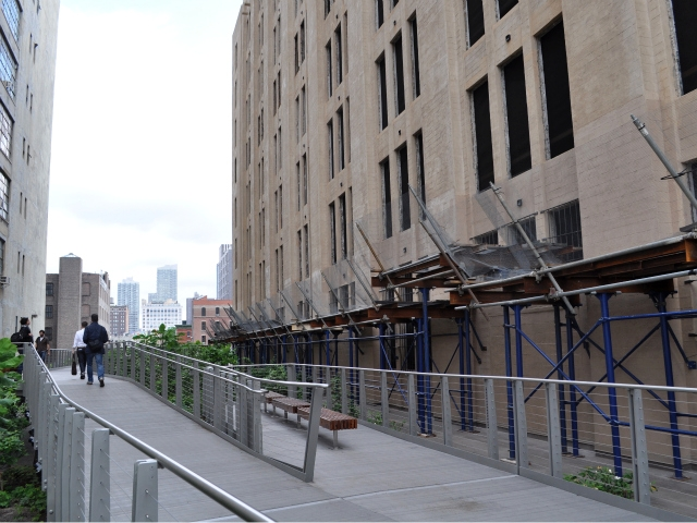 The World School is under construction along the High Line at 25th Street.
