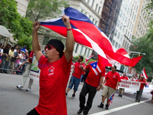 The Puerto Rican flag was on display Sunday.