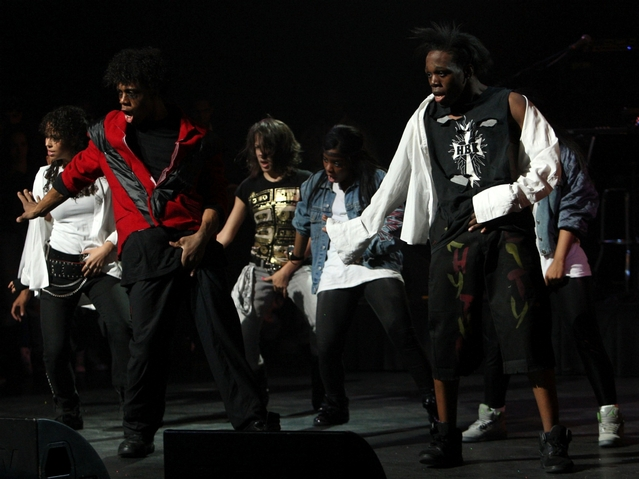 Members of the dance group Rythem City perform during Amateur Night at The Apollo Theater on July 1, 2009.