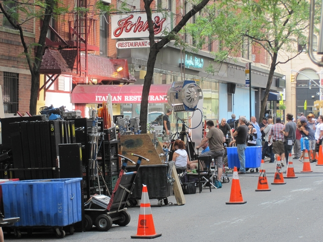 John's Italian Restaurant on East 12th Street acted as the backdrop for filming of the hit HBO series