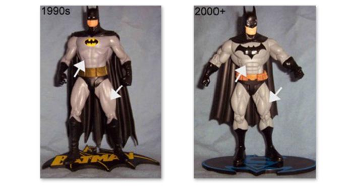 Modern Batman action figures
