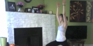 Florence doing yoga