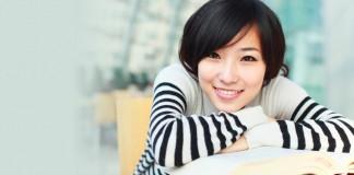 Female student studying