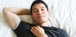 Man laying down relaxed