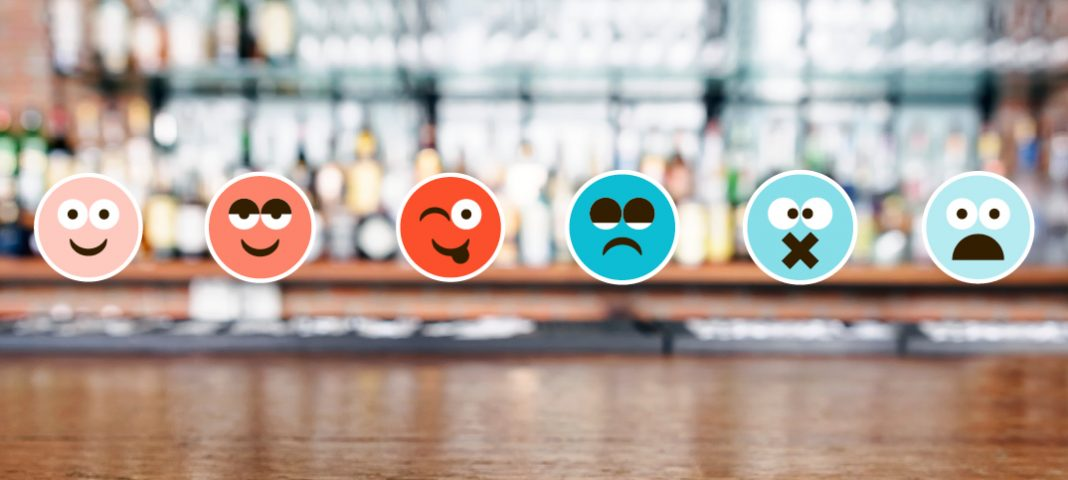 Bar with emoji faces