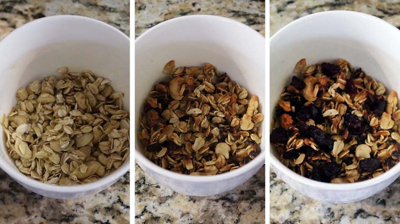 Mug granola ingredients