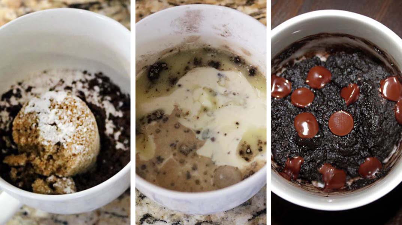 Mug brownie ingredients