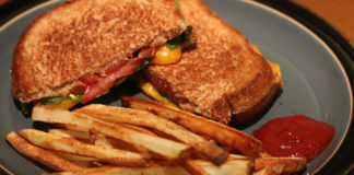 Grilled cheese and fries