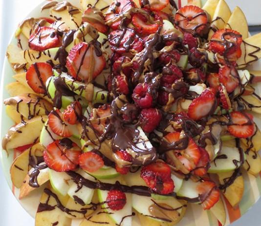 Apple (nut) butter nachos