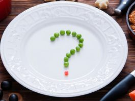 Question mark on a plate