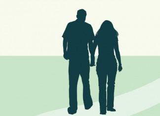 Illustration of friends walking