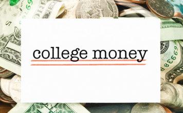 "Jar full of money labeled ""College money"""