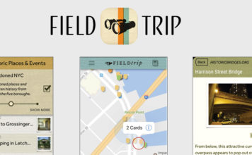 Field Trip app screen shots