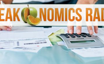 "Finance paperwork and ""Freakonomics"" logo"