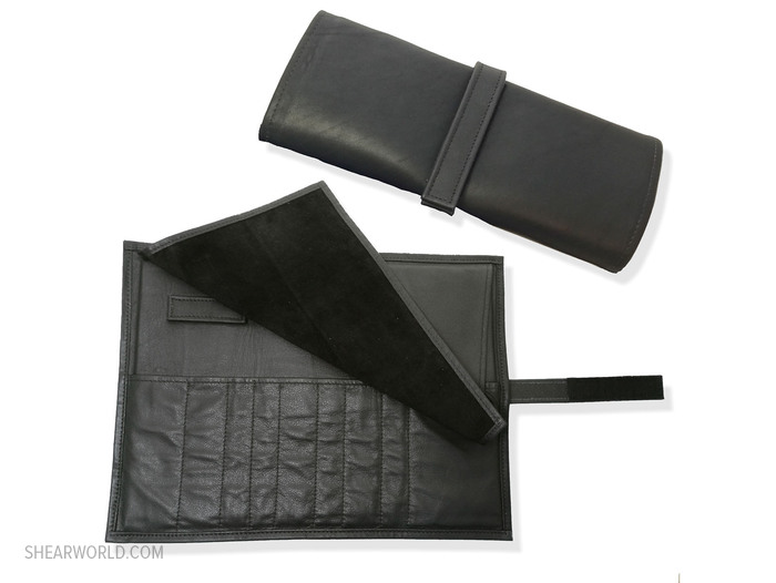 Handmade Leather Roll-Up Case