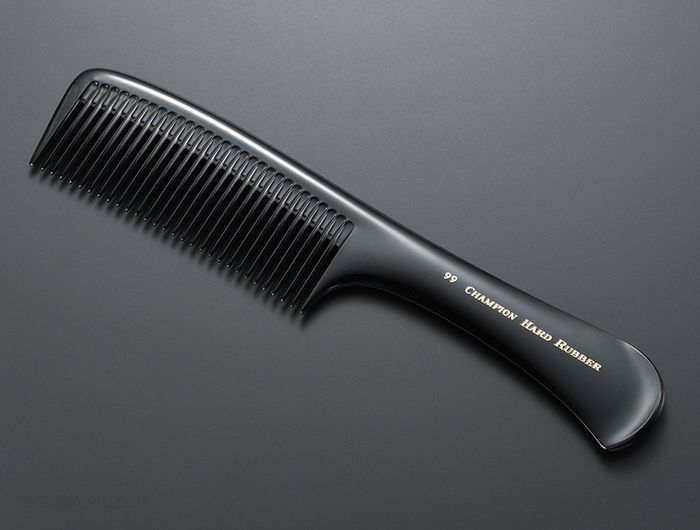 Champion #99 Hard Rubber Detangling Comb 9""