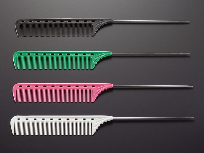 "YS Park #102 Metal Tail Comb - 8.75"""