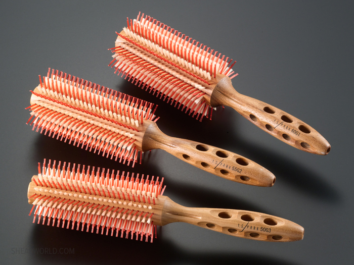 "YS Park ""G"" Series Mixed-Bristle Round Brushes - 7 Sizes"