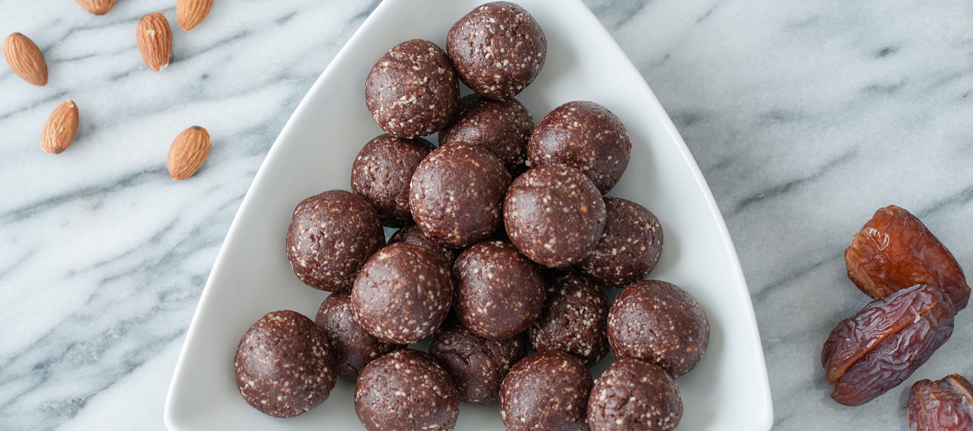 chocolate almond gluten free dairy free energy ball recipe