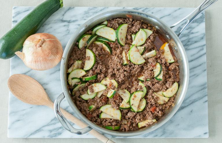 paleo dinner recipe beef zucchini skillet gluten free