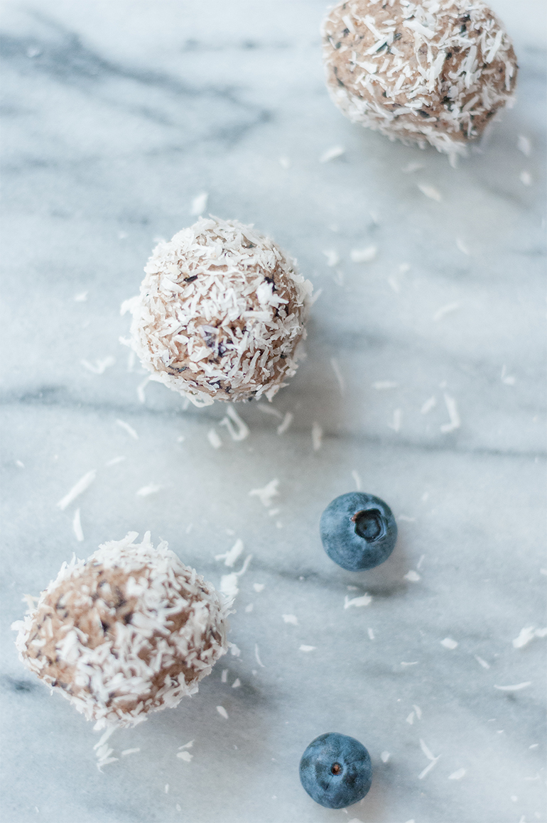 coconut blueberry paleo ball recipe