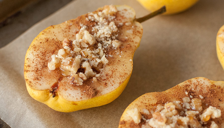 Recipe: Baked Walnut Pears