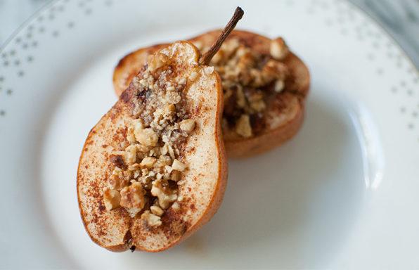 baked walnut pear dessert recipe gluten free dairy free vegan dessert