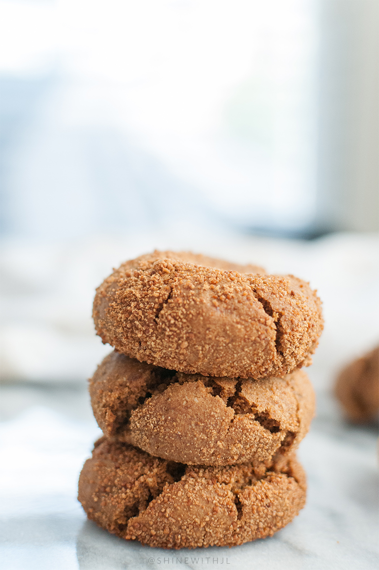 paleo gingersnap recipe shinewithjl